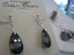Graphite Teardrop Earring, $38.75