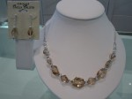 Champagne Crystal Necklace $318.75 and Earrings $48.75