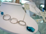 Sterling Silver ring and Crystal Necklace--I could see this for a destination wedding on a beach somewhere! $131.25